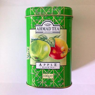 Lata de chá de maçã Ahmad 100g